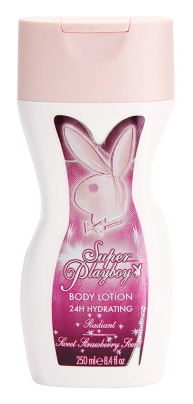 Playboy Super Playboy for Her telové mlieko pre ženy 250 ml
