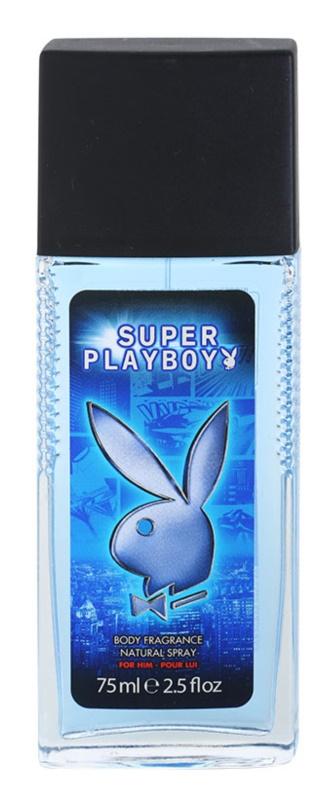 Playboy Super Playboy for Him deodorant s rozprašovačom pre mužov 75 ml