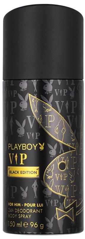 Playboy VIP Black Edition deospray pre mužov 150 ml
