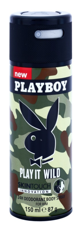 Playboy Play it Wild Deo Spray voor Mannen 150 ml