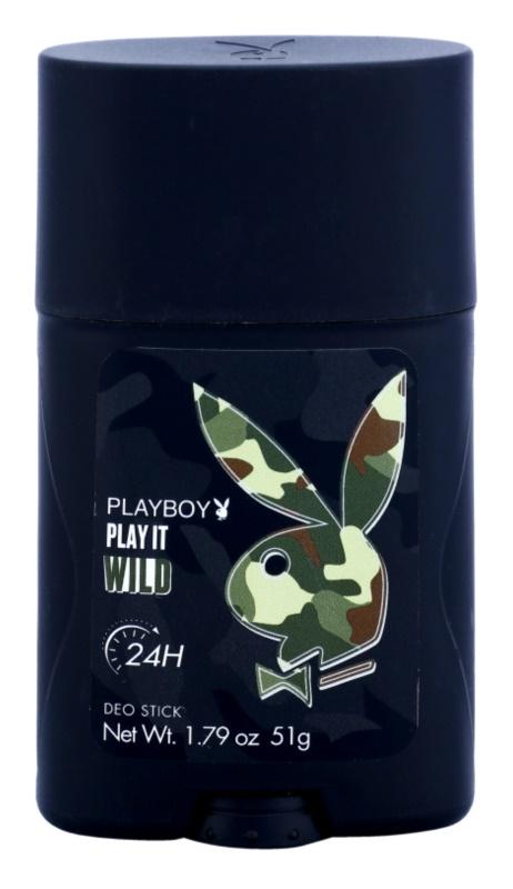 Playboy Play it Wild Deodorant Stick for Men 51 g