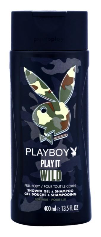 Playboy Play it Wild gel de dus pentru barbati 400 ml