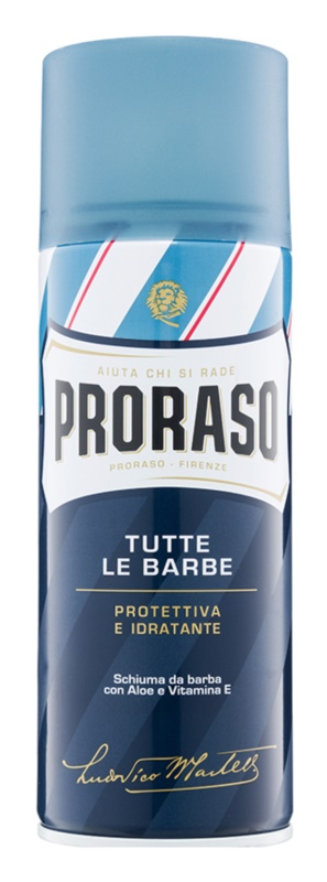 Proraso Blue Shaving Foam With Moisturizing Effect