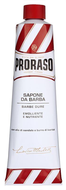 Proraso Red Rasierseife für harte Barthaare in der Tube