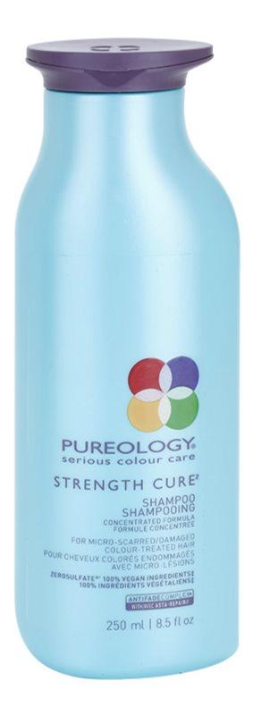 Pureology Strength Cure champú revitalizador para cabello teñido y dañado