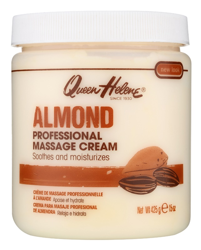 Queen Helene Almond crema para masaje para rostro y cuerpo