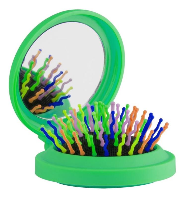Rainbow Brush Pocket Щітка для волосся з дзеркальцем