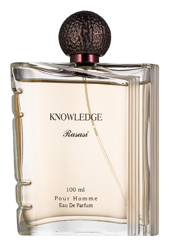 Rasasi Knowledge eau de parfum per uomo 100 ml