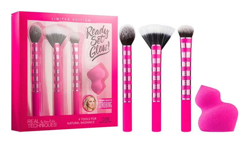 Real Techniques Ready Set Glow lote cosmético I.