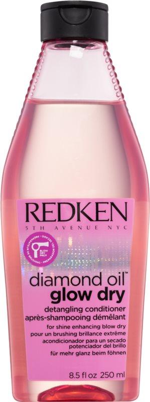 Redken Diamond Oil Glow Dry condicionador para clareamento, brilho e facilidade em pentear