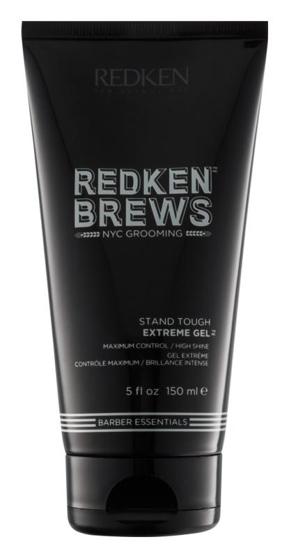 Redken Brews gel extra fort pour une coiffure parfaitement fixée et brillante