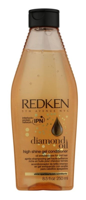 Redken Diamond Oil gelový kondicionér pro vlasy bez lesku