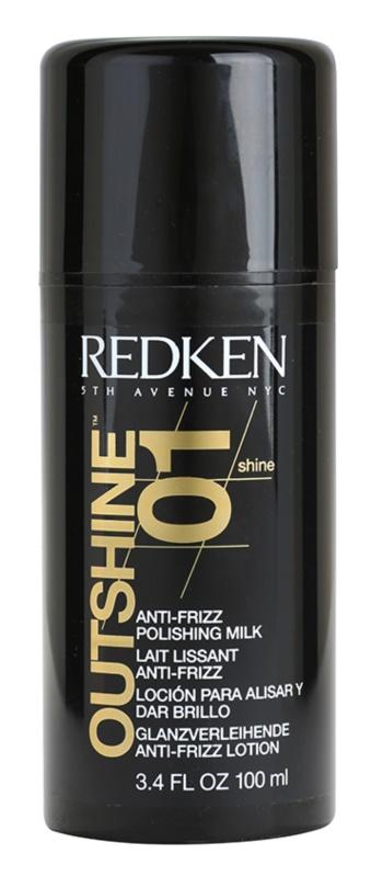 Redken Shine Brillance uhlazující mléko pro nepoddajné a krepatějící se vlasy
