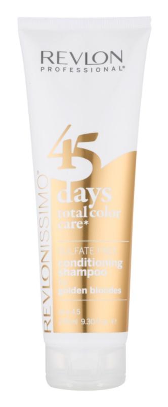 Revlon Professional Revlonissimo Color Care šampón a kondicionér 2 v 1 pre stredne blond odtiene