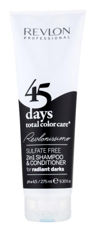 Revlon Professional Revlonissimo Color Care champô e condicionador 2 em 1 para tons muito escuros e cabelo preto