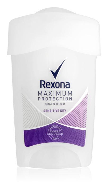 Rexona Maximum Protection Sensitive Dry anti-perspirant crema