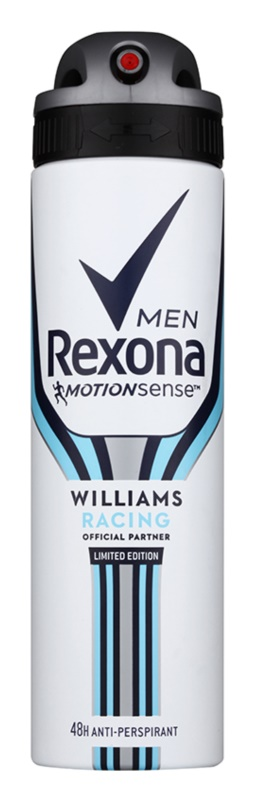 Rexona Williams Racing Limited Edition Antiperspirant Spray For Men