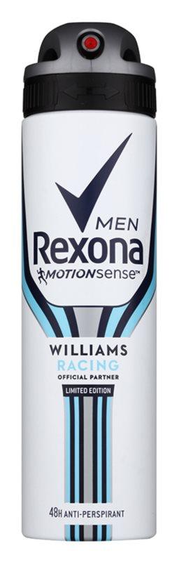 Rexona Williams Racing Limited Edition antiperspirant v spreji pre mužov
