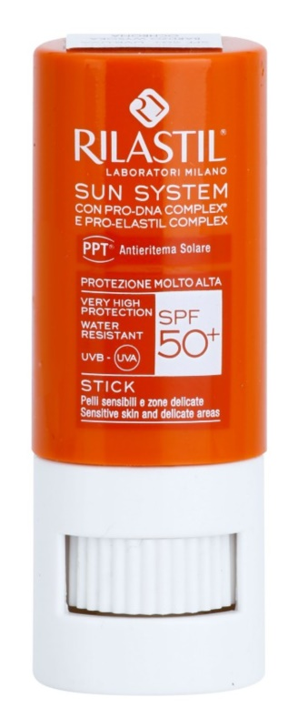 Rilastil Sun System Protection Balm for Lips and Sensitive Areas SPF 50+