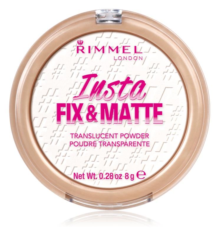 Rimmel Insta Fix & Matte transparentný fixačný púder