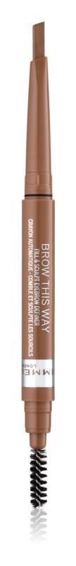 Rimmel Brow This Way tužka na obočí s kartáčkem