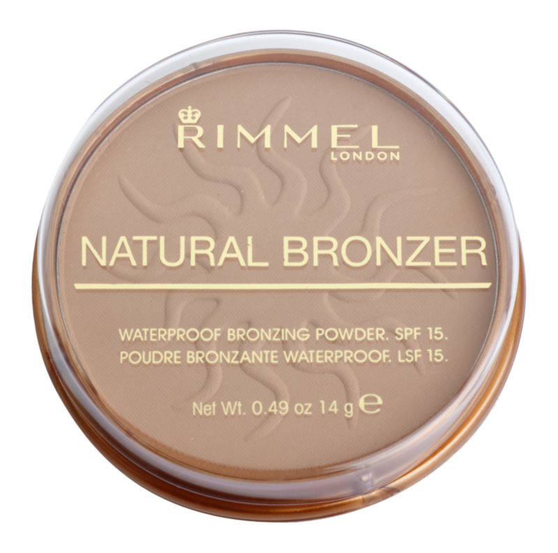 Rimmel Natural Bronzer водостійка пудра-бронзантор SPF 15