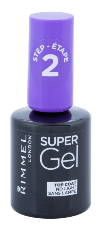 Rimmel Super Gel Step 2 vrchný ochranný lak na nechty s leskom