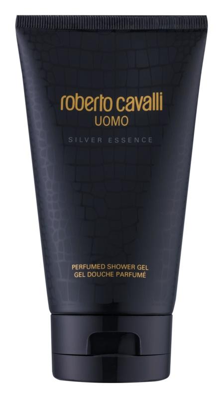Roberto Cavalli Uomo Silver Essence sprchový gél pre mužov 150 ml