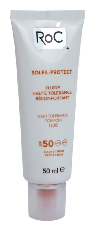 RoC Soleil Protect zaščitni fluid za zelo občutljivo kožo SPF 50