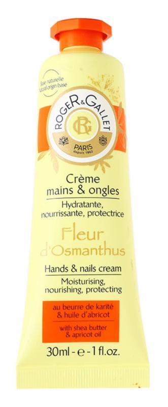 Roger & Gallet Fleur d'Osmanthus krém na ruce a nehty s bambuckým máslem a olejem z měruněk