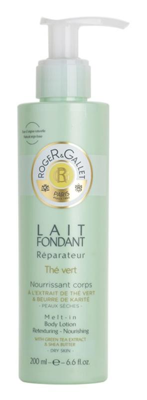 Roger & Gallet Thé Vert nährende Körpermilch für trockene Haut