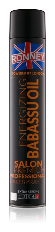 Ronney Energizing Babassu Oil lak za lase z ekstra močnim utrjevanjem