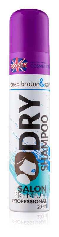 Ronney Dry Shampoo suchý šampón pre tmavé vlasy