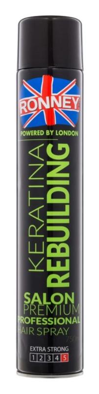 Ronney Keratina Rebuilding lak na vlasy silné zpevnění