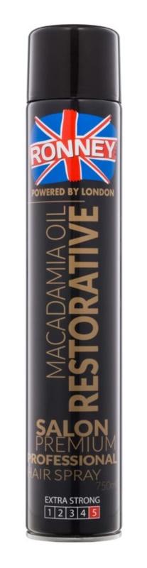 Ronney Macadamia Oil Restorative lak na vlasy so silnou fixáciou