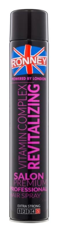 Ronney Vitamin Complex Revitalizing regenerační lak na vlasy pro extra silnou fixaci