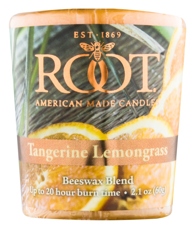 Root Candles Tangerine Lemongrass Votivkerze 60 g