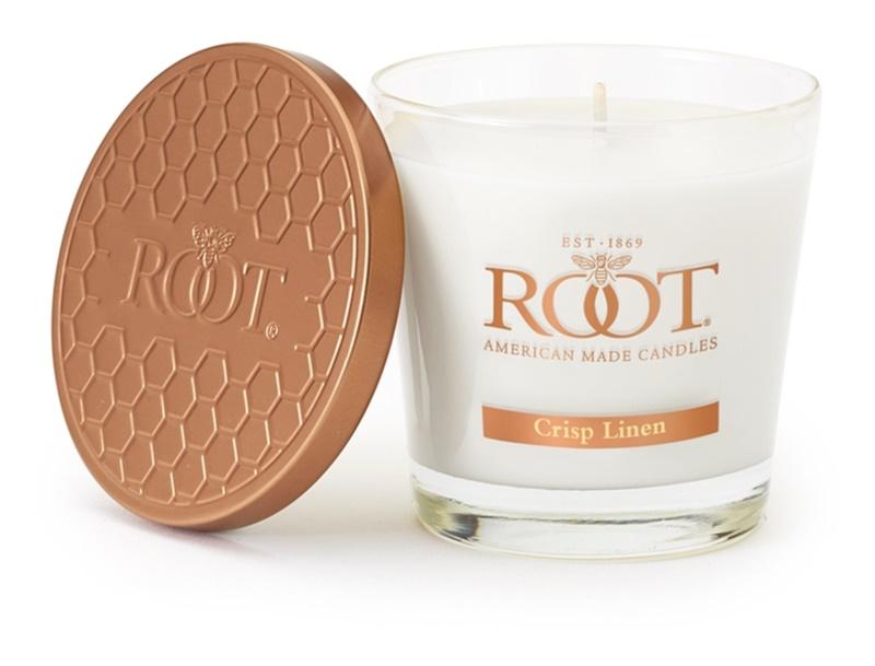 Root Candles Crisp Linen vonná svíčka 179 g