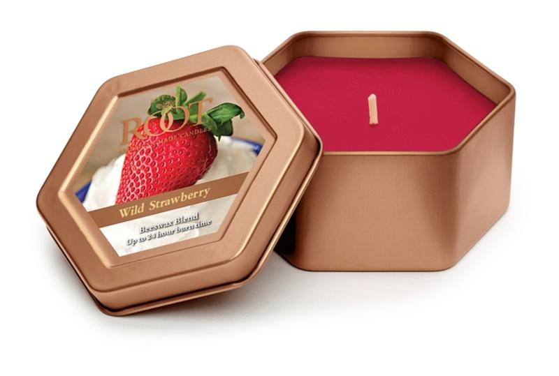 Root Candles Wild Strawberry bougie parfumée 113 g en métal