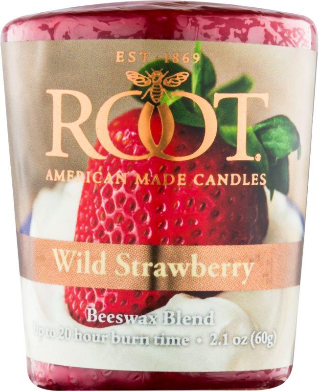 Root Candles Wild Strawberry Votiefkaarsen 60 gr