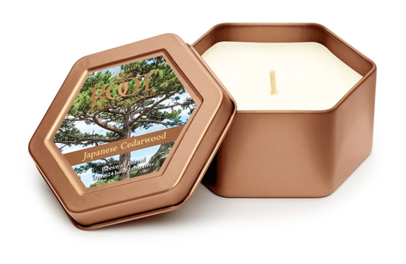 Root Candles Japanese Cedarwood illatos gyertya  113 g alumínium dobozban