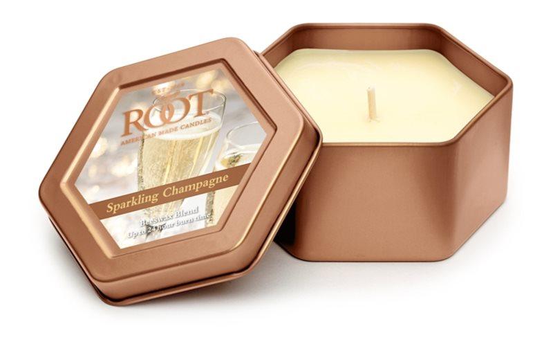 Root Candles Sparkling Champagne bougie parfumée 113 g en métal