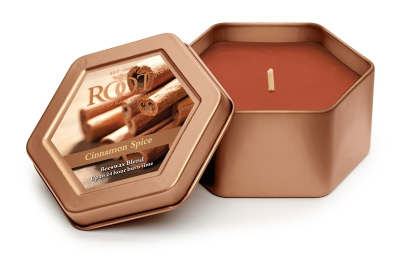 Root Candles Cinnamon Spice candela profumata 113 g in lattina