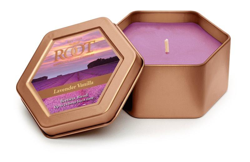 Root Candles Lavender Vanilla świeczka zapachowa  113 g w puszcze