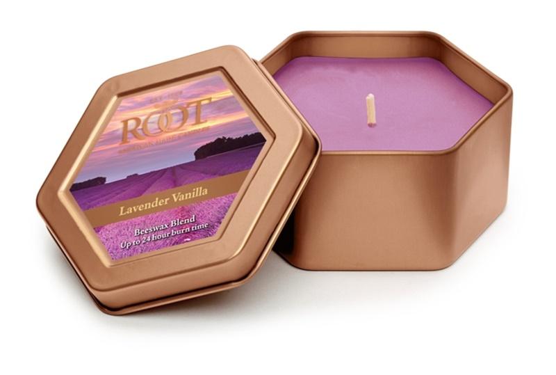 Root Candles Lavender Vanilla vonná svíčka 113 g v plechovce