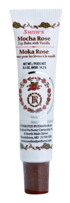 Rosebud Perfume Co. Smith´s Mocha Rose balzám na rty v tubě