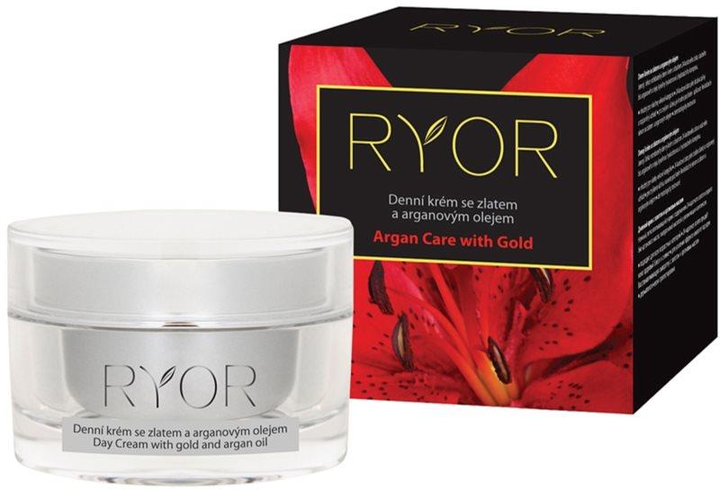 RYOR Argan Care with Gold denný krém so zlatom a argánovým olejom