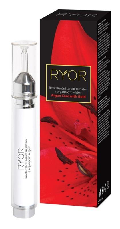 RYOR Argan Care with Gold revitalizační pleťové sérum se zlatem a arganovým olejem