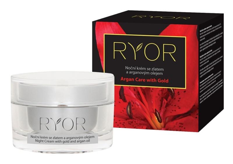 RYOR Argan Care with Gold creme de noite com ouro e óleo de argan