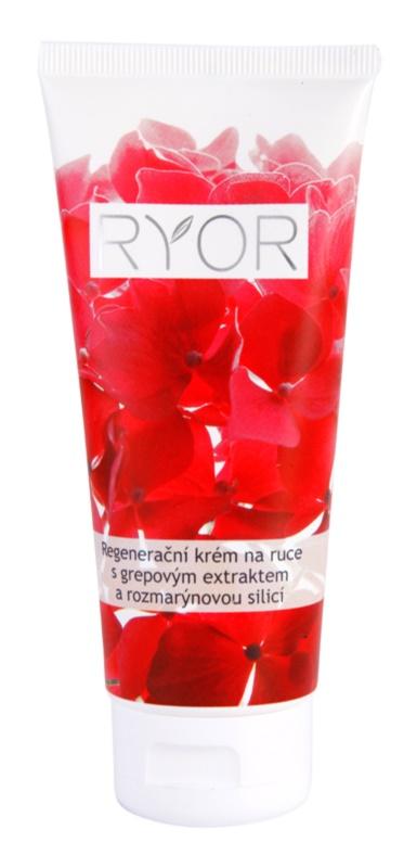 RYOR Face & Body Care regeneračný krém na ruky s grepovým extraktom a rozmarínovou silicou